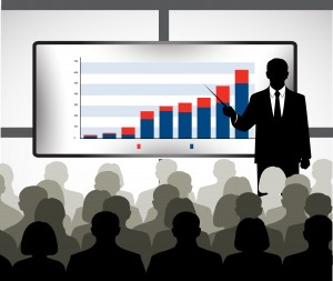 silhouette of a businessman holding training